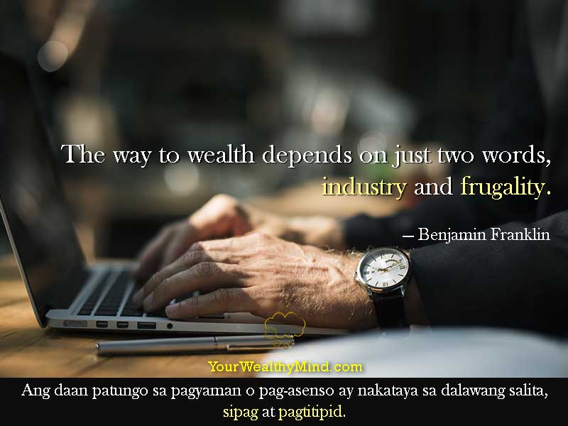 Quote-industry-frugality-tagalog
