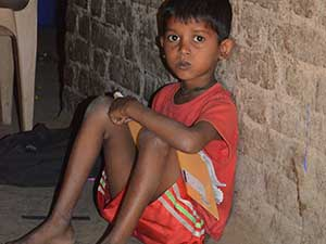 poor child on street