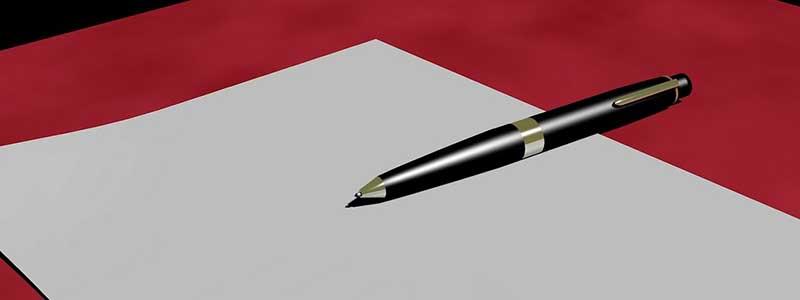 pen letter writing blank