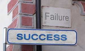 failure success sign