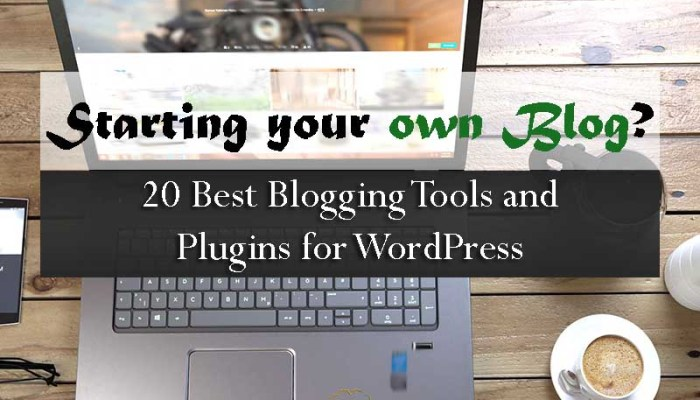 Starting your own Blog - 20 Best Blogging Tools and Plugins for Wordpress - Your Wealthy Mind