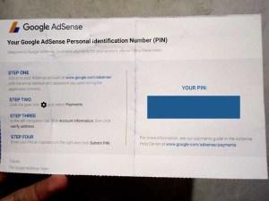 google adsense pin letter