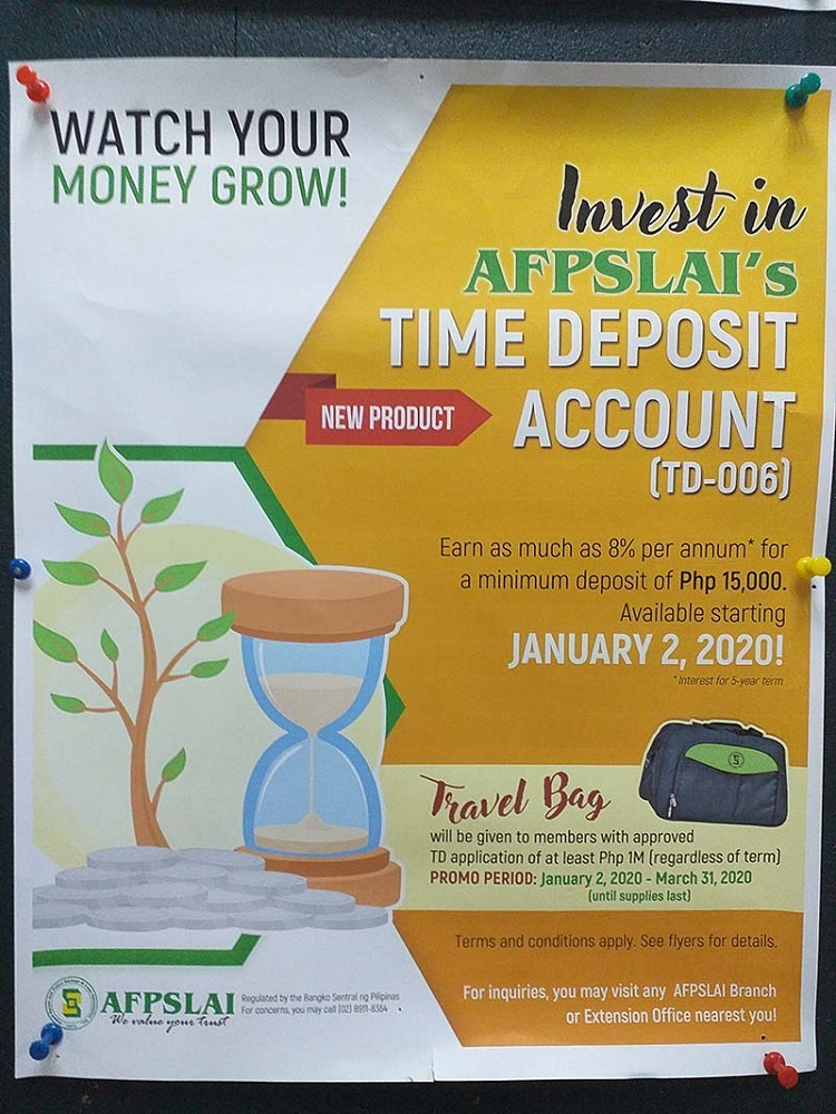 afpslai time deposit your wealthy mind