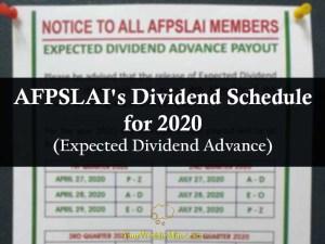 afpslai dividend 2020 your wealthy mind