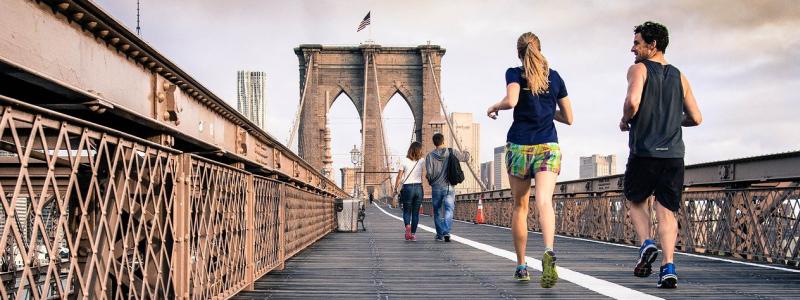 running jogging couple
