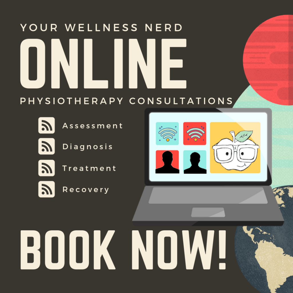 online physiotherapy consultation ad for your wellness nerd