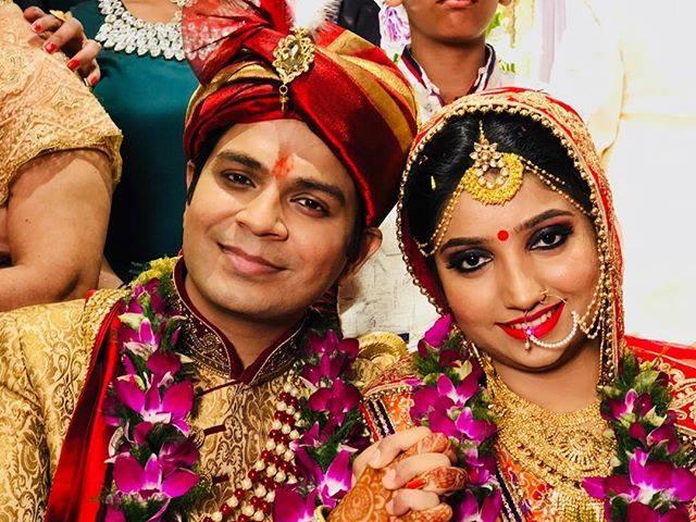 Ankit Tiwari with his wife Pallavi Shukla