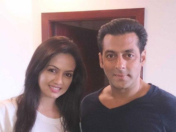 Sana Khan with Salman Khan