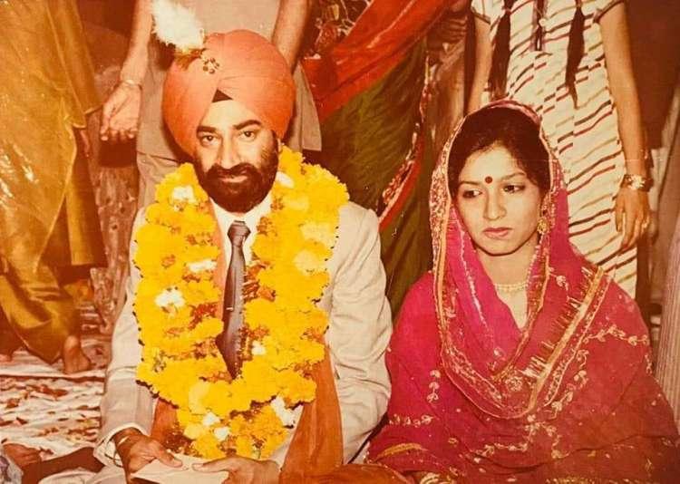 Jaspal Bhatti with his wife Savita Bhatti