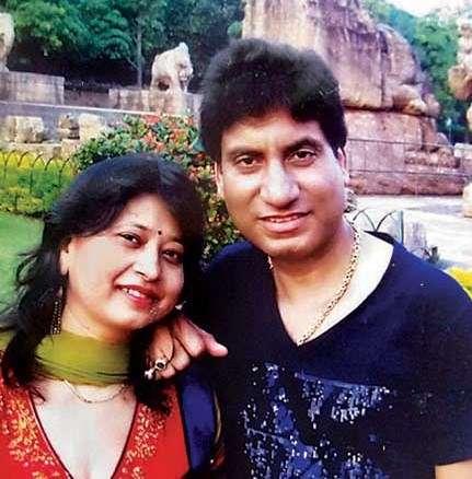 Raju Srivastav with his wife Shikha