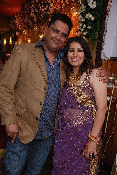 Sanjay B Jumaani with his wife Jhernna S Jumaani