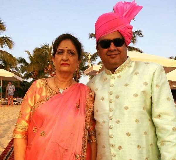 Sanjay b Jumaani with his Mother