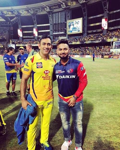 Rishabh Pant with M S Dhoni