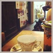 Nice cup of tea in a bookshop cafe
