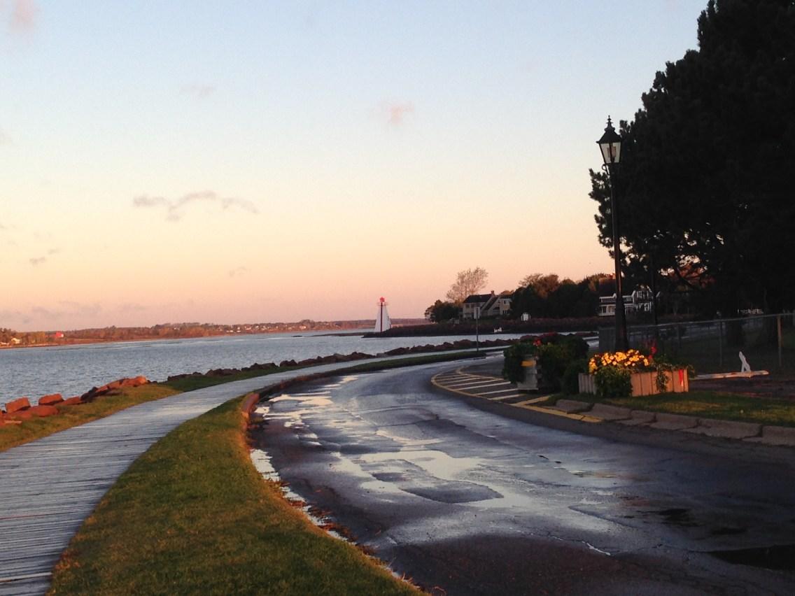 Charlottetownで朝のジョギング