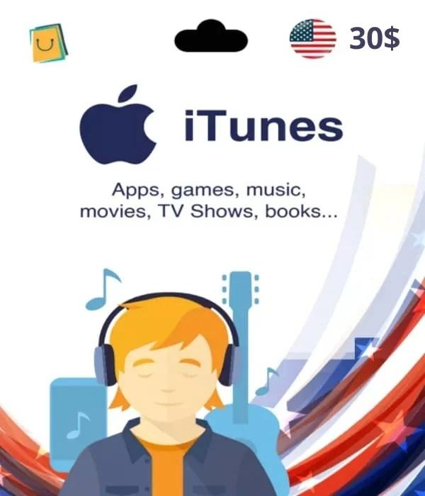 Carte App Store & iTunes 30$ USA