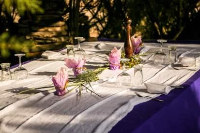 La Table de la Plage Murtoli table setting