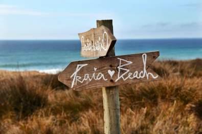 Areias do Seixo praia sign