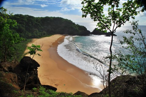 Praia do Sancho Fernando de Noronha sunset view