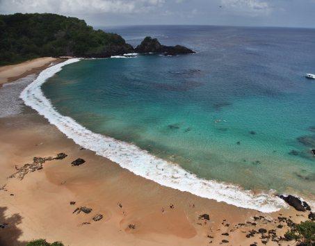 Praia do Sancho Fernando de Noronha view