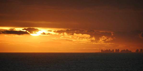 Posada del Faro skyline at sunset