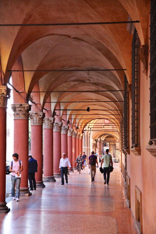 Bologna ochre portico