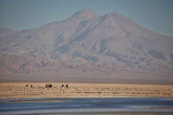 Salar de Atacama volcano floor