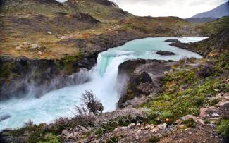 Torres del Paine National Park waterfall