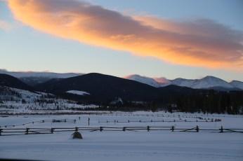 Devil's Thumb Ranch sunrise clouds