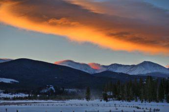 Devil's Thumb Ranch clouds sunrise