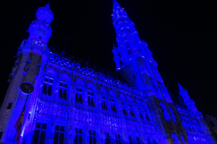 Brussels Grand Place light display