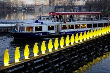 Prague penguins and boat