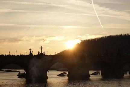 Charles Bridge sunset
