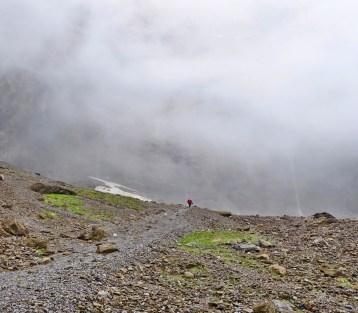 Cirque de Gavarnie waterfall mist