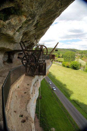 La Roque Saint-Christophe pulley