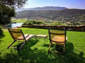 Domaine de Murtoli A Tiria chair view