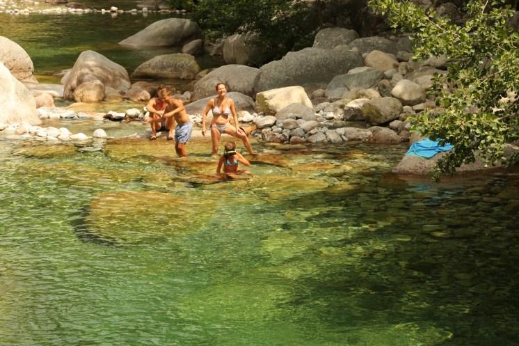 Gorge de Restonica family swim