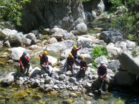 Corsica Canyoning group pic