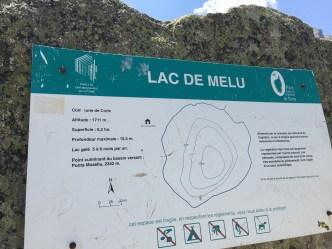 Lac de Melu signpost