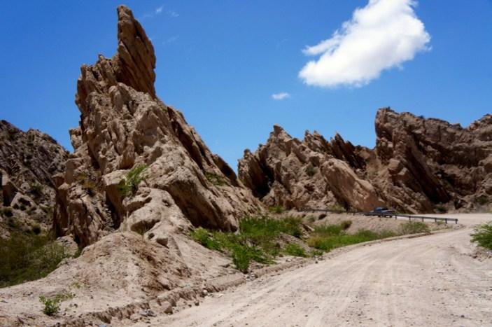 Ruta 40 Salta Argentina pointy finger rock
