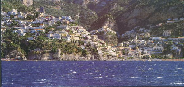 A postcard view of Positano