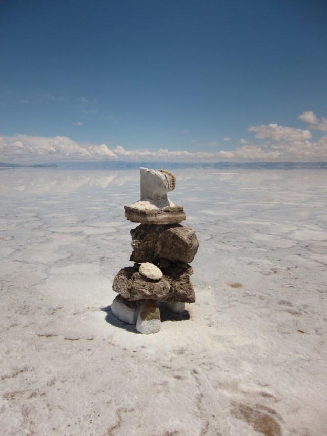 Salinas Grande Argentina sculpture up close