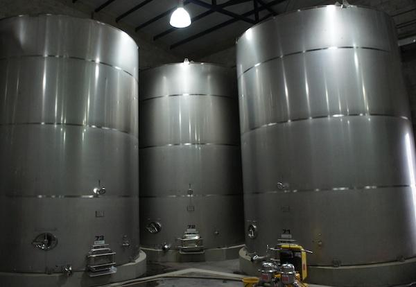 Colomé vineyards steel tanks