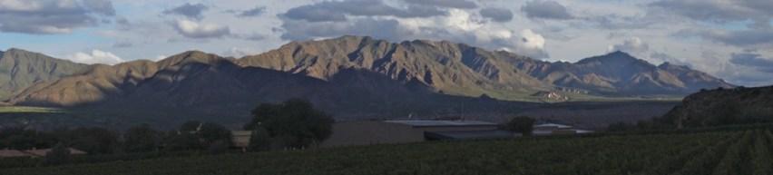 Estancia Colomé mountain panorama