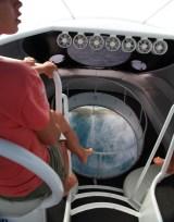 FERNANDO DE NORONHA glass bottom boat tour waves