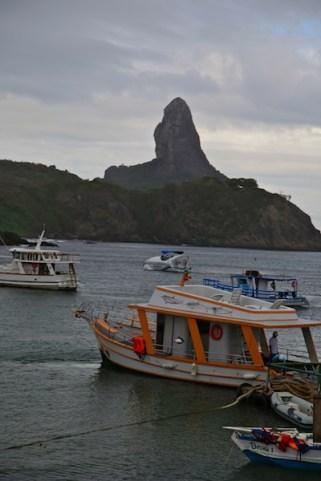 FERNANDO DE NORONHA harbor boats