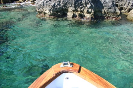 Crystal clear waters of the Amalfi Coast