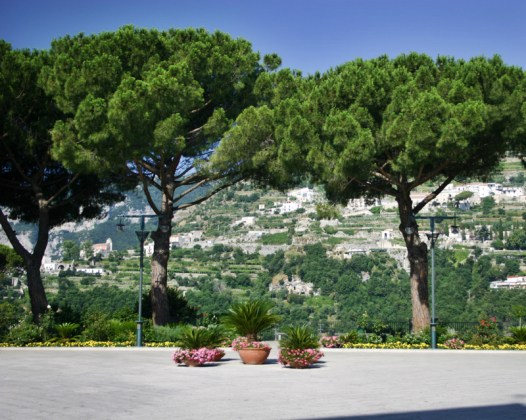 Ravello main piazza trees