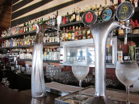 La Huella beer taps