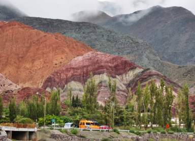 View of Hill of Seven Colors Purmamarca Argentina